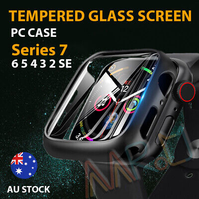 AU7.99 • Buy Apple Watch SE6/5/3 38/40 42/44mmFull Case Cover Built-in Glass Screen Protector