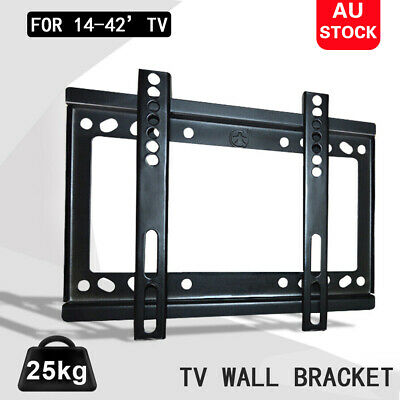 AU9.95 • Buy Slim 14-42 42 40 39 32inch TV Wall Bracket Mount Plasma LCD LED Monitor Flat