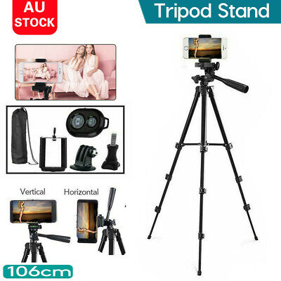 AU13.50 • Buy Professional Camera Tripod Stand Mount Phone Holder For IPhone DSLR Travel AU