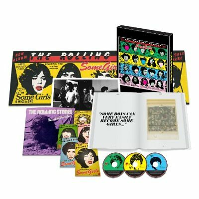 ROLLING STONES SHM-2CD+DVD+7 +Book BOX Some Girls Super DX Edition From Japan • 166.04£
