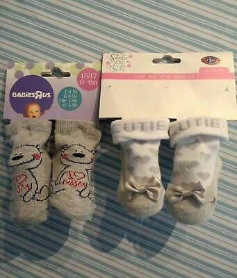 Baby Girl Socks X 2 Pairs. New On Packaging. Size 0-6 Months.  • 1.75£