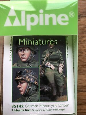 1/35 Scale Model Figure: Alpine Miniatures 35142 German Motorcycle Driver. • 10.85£