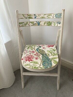 White Painted Ornate Vintage Style Wooden Chair • 6£