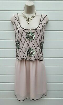 Party Dress,20's,30's,flapper,60's,80's,vintage Style,sequins/beaded,size 16 • 6.99£