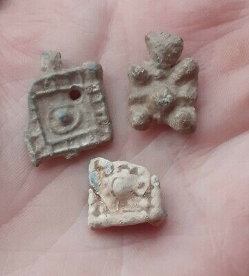 £15 • Buy Medieval Tudor Lead Alloy Clothes Fasteners / Pilgrim Badges Detecting Finds