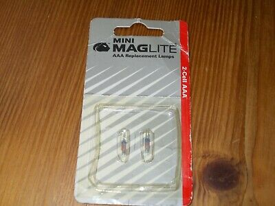 2 Genuine Maglite 2 Cell AAA Replacement Bulbs, 1 Pack Containing 2 Bulbs. • 5£