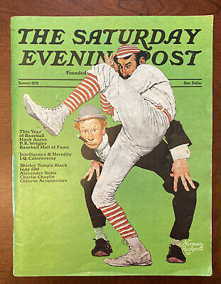 $ CDN6.36 • Buy 1972 SATURDAY EVENING POST Norman Rockwell Hank Aaron