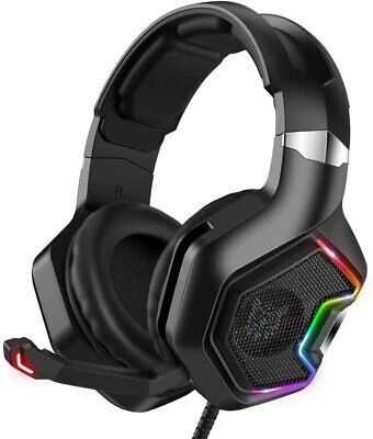AU36.95 • Buy ONIKUMA K10 Gaming Headset Mic RGB LED Stereo Headphones For PC PS4 PS5 Xbox One