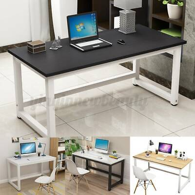 AU80.99 • Buy Home Office Desks Computer Desk Table Student Study Workstation Metal 110x74cm