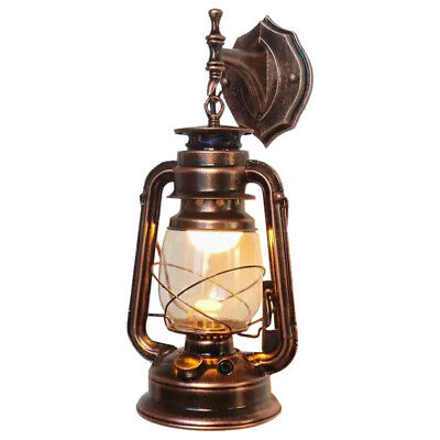Retro Antique Vintage Rustic Lantern Lamp Wall Sconce Light Garden Yard Outdoor • 16.89£