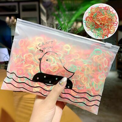 $ CDN3.75 • Buy 1000Pcs Rubber Hairband Silicone Ponytail Holder Rope Elastic Hair Accessories