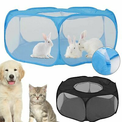 £10.99 • Buy Pet Soft Playpen Dog Cat Rabbit Guinea Pig Puppy Play Crate Cage Tent Portable