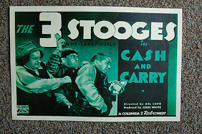 $ CDN5.09 • Buy The 3 Stooges Cash And Carry Lobby Card Movie Poster