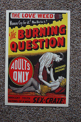 $ CDN3.82 • Buy The Burning Question Lobby Card Movie Poster The Love Weed