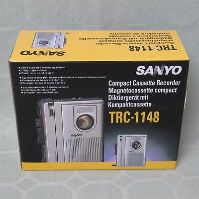 Sanyo Compact Cassette Recorder Dictating Machine Trc-1148 (m21) • 16.75£