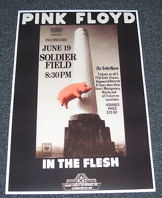 $10 • Buy NEW PINK FLOYD - IN THE FLESH Rock Concert Poster