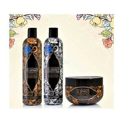 £10.99 • Buy Macadamia Natural Oil Extract Hair Treatment Gift Set - Shampoo Conditioner Mask