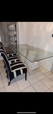 Mactan Stone And Glass Dining Table Used • 53£
