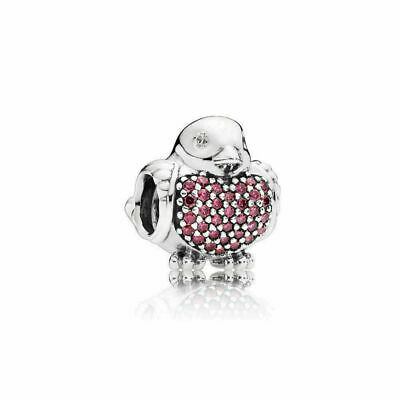 New Authentic Genuine Silver Pandora Red Robin Charm 791731CZR S • 10.99£