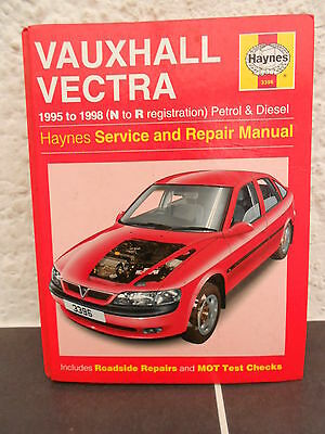 HAYNES SERVICE AND REPAIR MANUAL FOR VAUXHALL VECTRA  -  1995 To  1998 • 7.50£