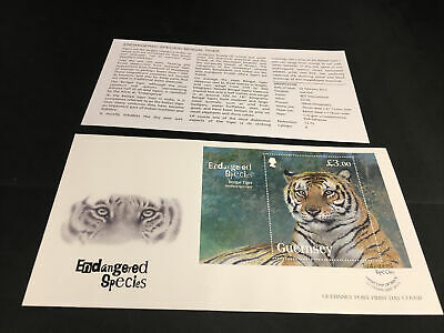 Guernsey Post First Day Cover Endangered Species Circa 2012 With Indsert • 0.99£