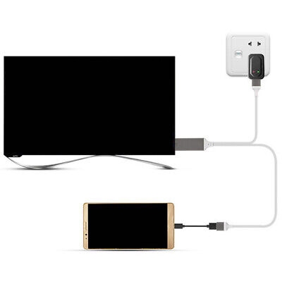 Connector Screen Mirroring Projector USB HDMI Cable 1080P For Iphone Android • 8.83£