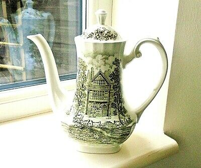 Ridgway Pottery,Gorgeous  Coffee Pot In Shakespeares Country Pattern In Brown • 10.50£