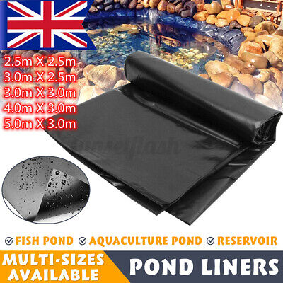 40 Year Guarantee Strong Fish Pond Liners Garden Pool Membrane Landscaping NEW • 11.35£