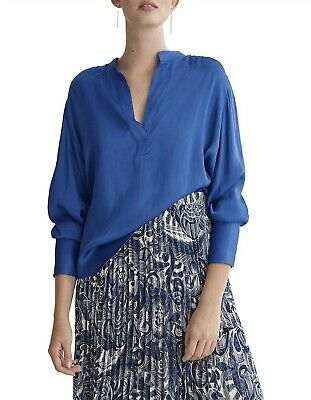 AU48 • Buy Country Road Longsleeve Popover Blouse, Size 12, M Princess  Blue BNWT RRP $119