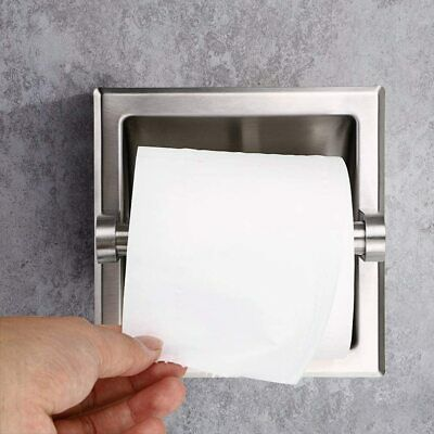 AU30 • Buy Stainless Steel Toilet Paper Roll Holder Recessed Tissue Roll Dispenser  Hotel