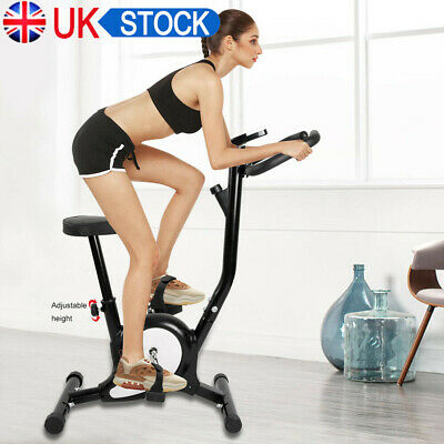 Black Spin Exercise Bike Home Gym Bicycle Cycling Cardio Fitness Training Indoor • 126.89£