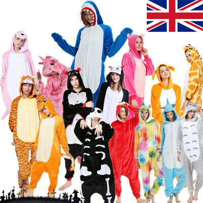 Ladies Adults Onesie66 Animals Cosplay Costume Kigurumi Pyjamas Animal Nightwear • 18.88£