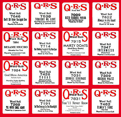 $ CDN11.28 • Buy QRS 7000 Series #1 Piano Rolls - Buy-It-Now - Select One Or All - EXC. Condition