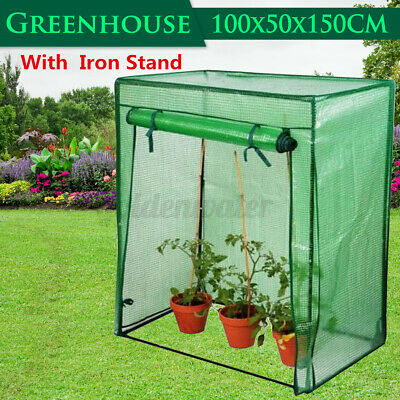 Garden Greenhouse Tomato Plant PE Cover Bag Grow Green House Reinforced Frame • 22.34£