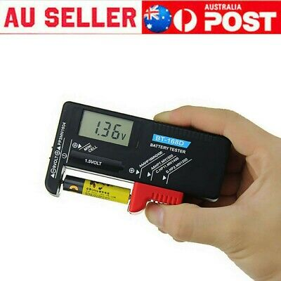 AU9.88 • Buy LCD Universal Battery Tester Tool AA AAA C D 9V Button Cell Volt Tester Checker