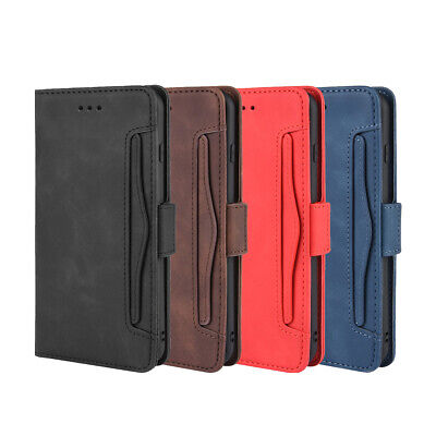 Faux Leather Phone Case With Card Slots Business Solid Flip Wallet For Iphone • 6.72£