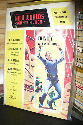 NEW WORLDS SCIENCE FICTION UK MAGAZINE No.108 + 110 1961 [2 ISSUES] • 5£