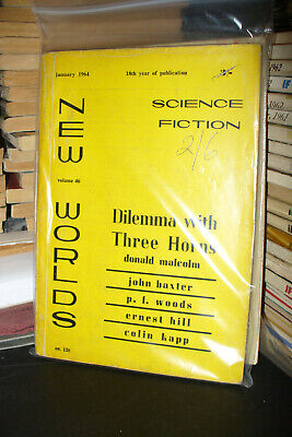 New Worlds Science Fiction Uk Magazine 1962 + 1964 [2 Issues] • 5£