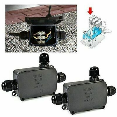 Waterproof Electrical Junction Box Case Cable Wire Connector Outdoor Ip66 Ip67 • 5.98£