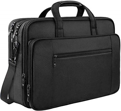 Laptop Bag, 17 Inch Business Briefcase For Men Women Large Waterproof Laptop • 32.02£