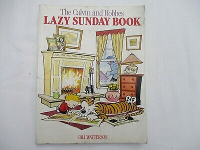 The Calvin And Hobbes Lazy Sunday Book Bill Watterson 1990 1st/1st Paperback • 10£