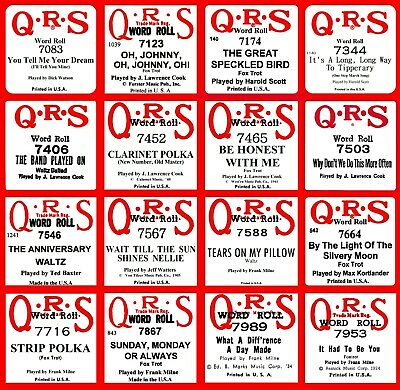 $ CDN11.28 • Buy QRS 7000 Series #2 Piano Rolls - Buy-It-Now - Select One Or All - EXC. Condition