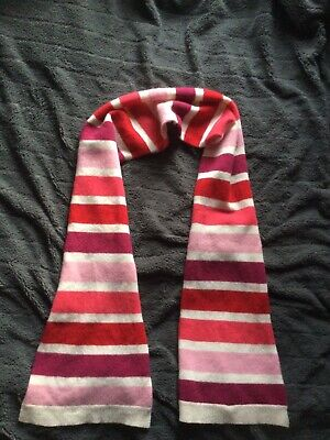 GAP Wool Ladies Scarf. Cream Pink Red Stripes. VGC.  • 2.99£