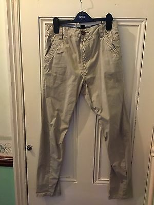 Boys NEXT Stone Twisted Chinos Age 12 Years • 6£