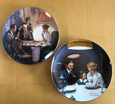 $ CDN10.07 • Buy LOT (2) NORMAN ROCKWELL'S LIGHT CAMPAIGN SERIES COLLECTOR PLATES W/ Certificates