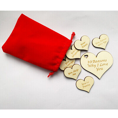 Personalised Valentines Day Gift Engraved Hearts 10 Reasons Why I Love You  • 5.99£
