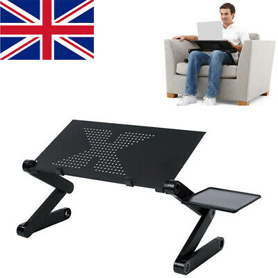 Portable Laptop Stand Desk Table Adjustable Folding Computer Table Sofa Lap Tray • 15.99£