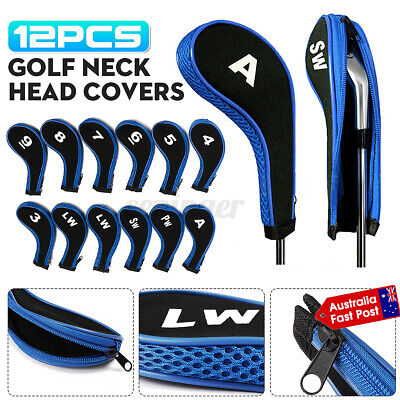 AU20.99 • Buy 12pcs Blue Andux Number Golf Club Iron Head Covers With Zipper Long Neck AU