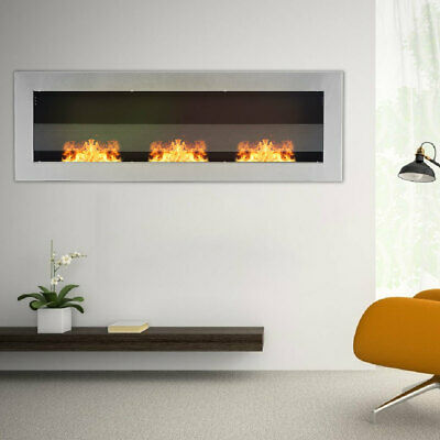 3 Burners Bio Fire Ethanol Fireplace Stove Wall Mount/Insert Indoor Living Room • 289.95£
