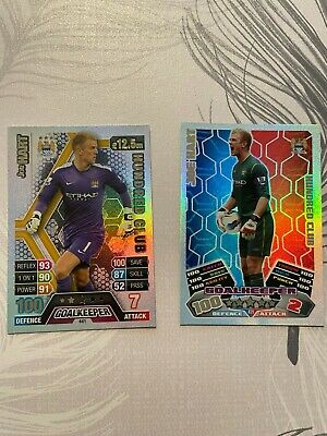 Match Attax Joe Hart Hundred Club Duo From 2011/12 And 2013/14 • 0.99£